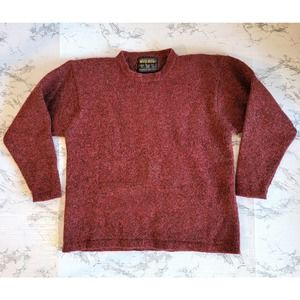 Woolrich Wool Crewneck Pullover Red Sweater Size L